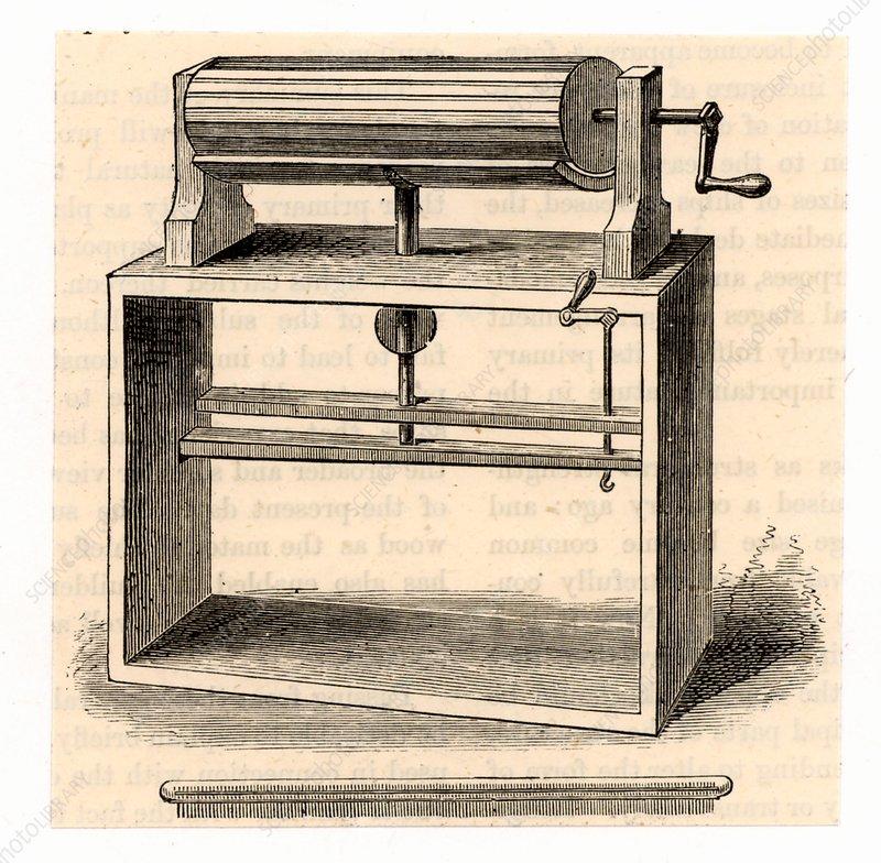 Cylinder wool carding machine