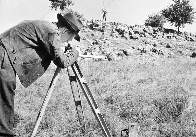 Oil industry surveying, 1940s