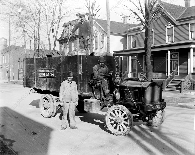 Coke delivery, early 20th century