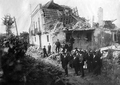 Mount Etna earthquake damage, 1914