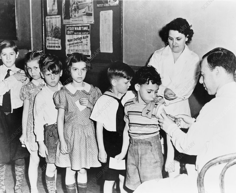 Childhood vaccination, 1940s