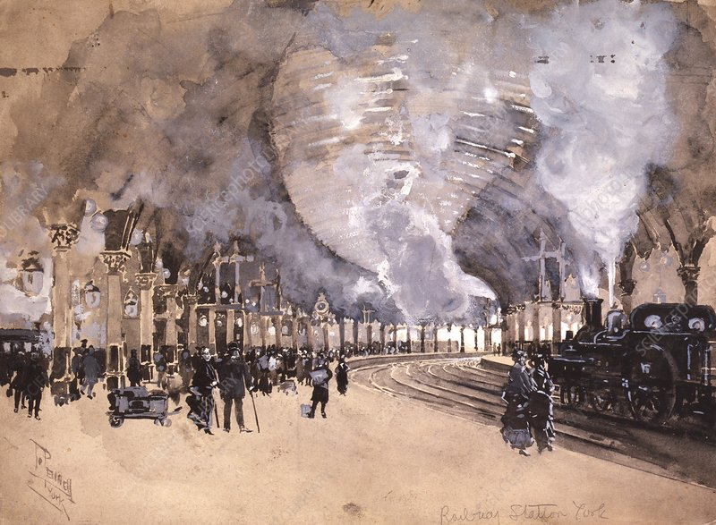York Railway Station, 1895