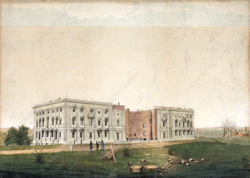 US Capitol after 1814 burning