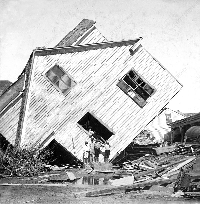 Galveston Hurricane damage, 1900