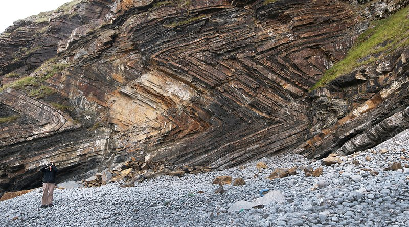 Recumbent folds at Millook Haven