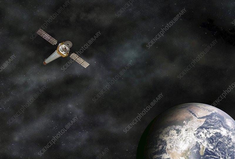 Chandra in orbit, illustration