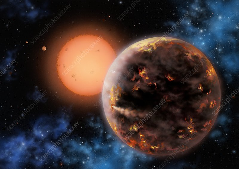 Exoplanet Gliese 876 d, illustration