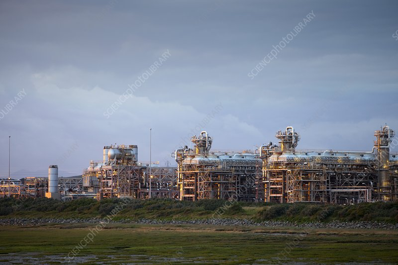 A gas processing plant at Rampside