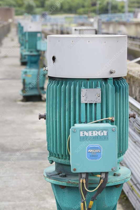 Motors at a sewage plant