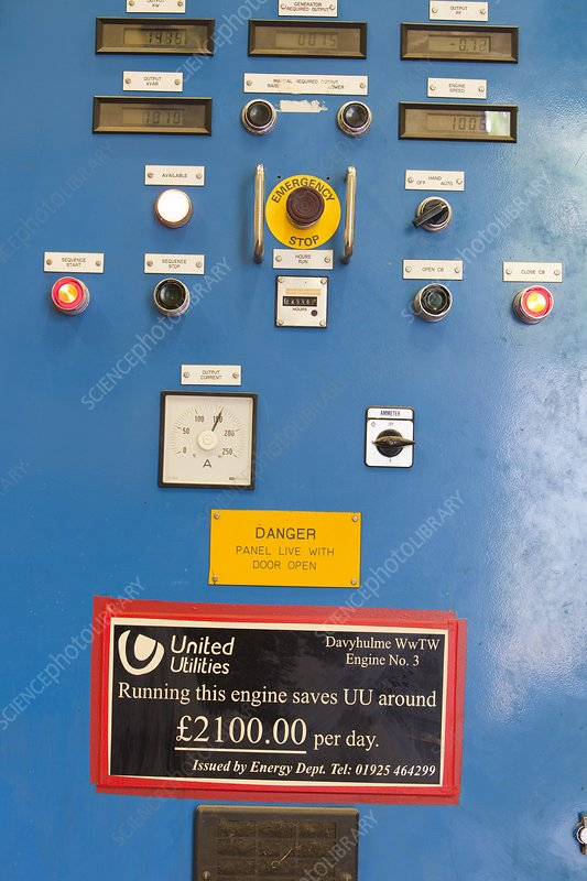 Control panels for the biogas boilers
