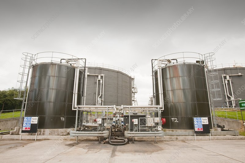Biodigesters at sewage plant