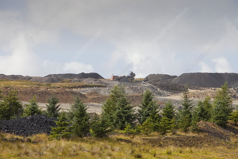 The Glentaggart open cast coal mine