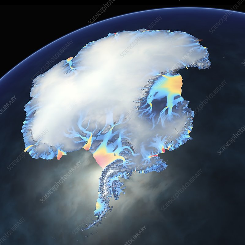 Antarctic ice velocity map