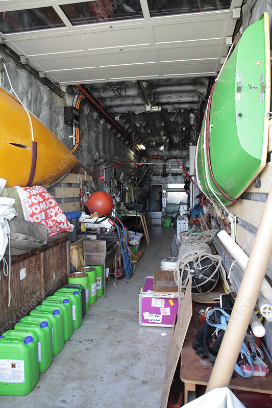 Rainbow Warrior storage area