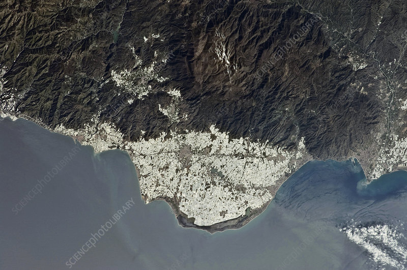 Polytunnels, Spain, ISS photograph