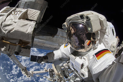 ISS spacewalk, astronaut photograph