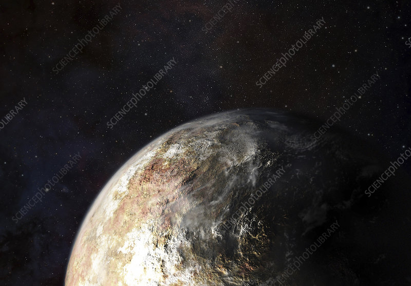 Clouds on Pluto, illustration