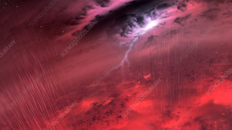Brown dwarf weather, conceptual image