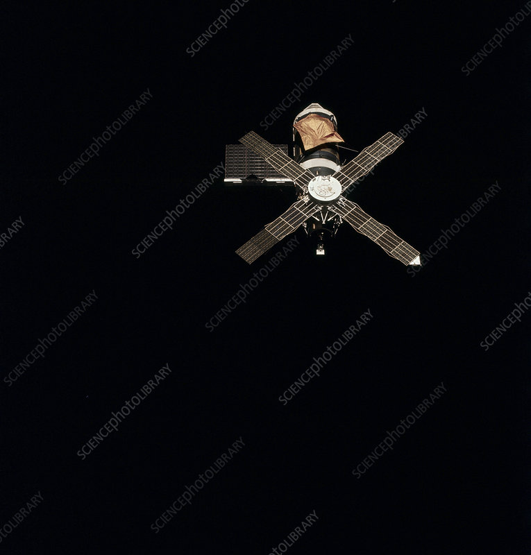 Skylab 1 space station in orbit