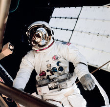 Skylab spacewalk