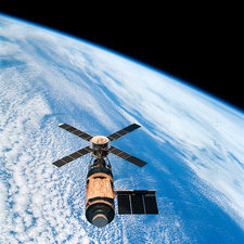 Skylab space station in orbit