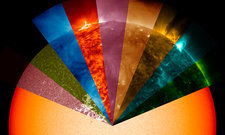 Sun's surface at different wavelengths