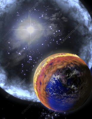 Gamma ray extinction event, illustration