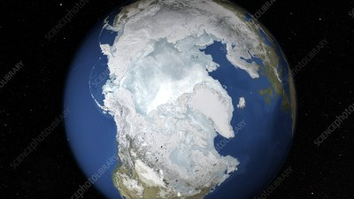 Maximum Arctic sea ice cover, 2015