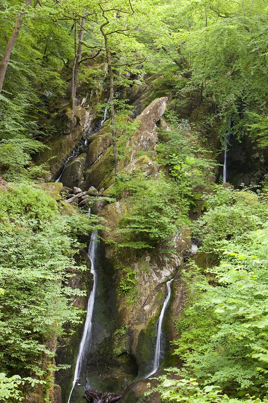 Stock Ghyll waterfall in drought