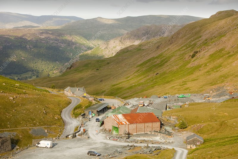 Honister slate mine on Honister Pass