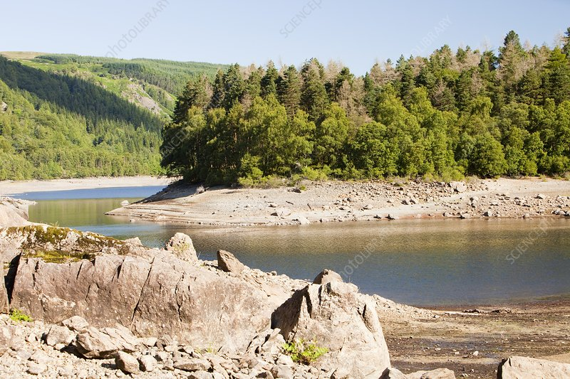 Thirlmere reservoir in drought