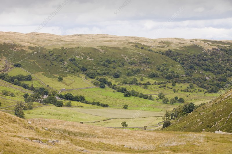 Looking down into Swindale from Mosedale