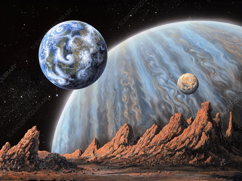 Extrasolar planets, illustration