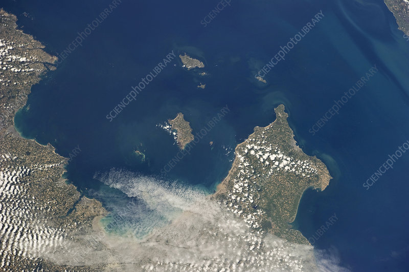 Channel Islands, ISS image