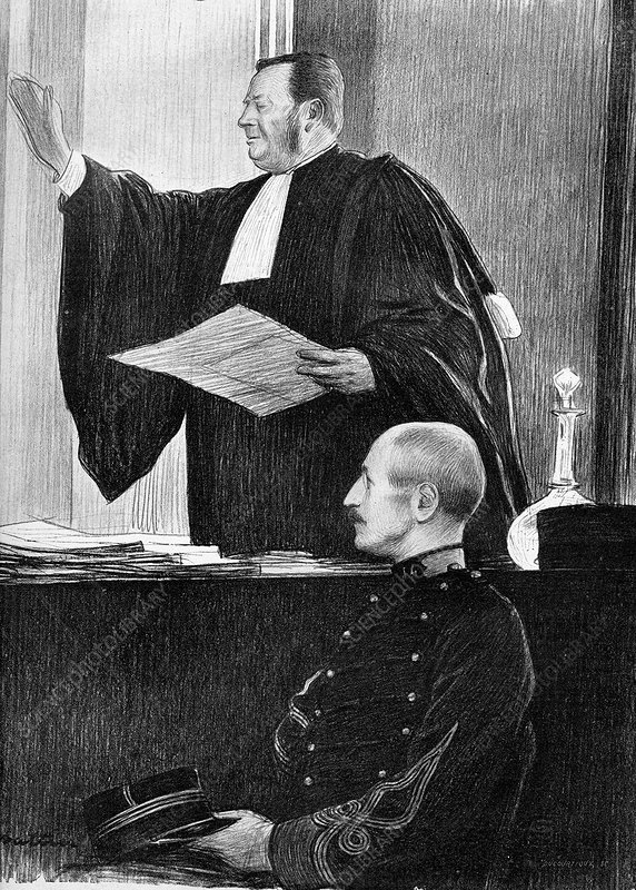 Demange and Dreyfus in court