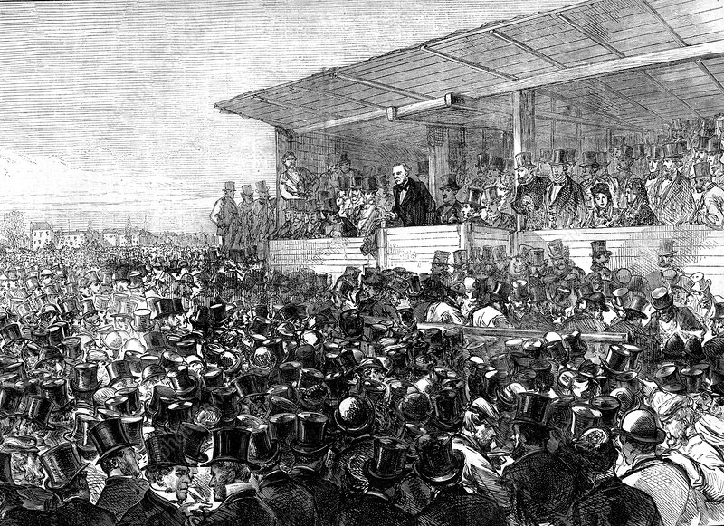William Gladstone at a rally