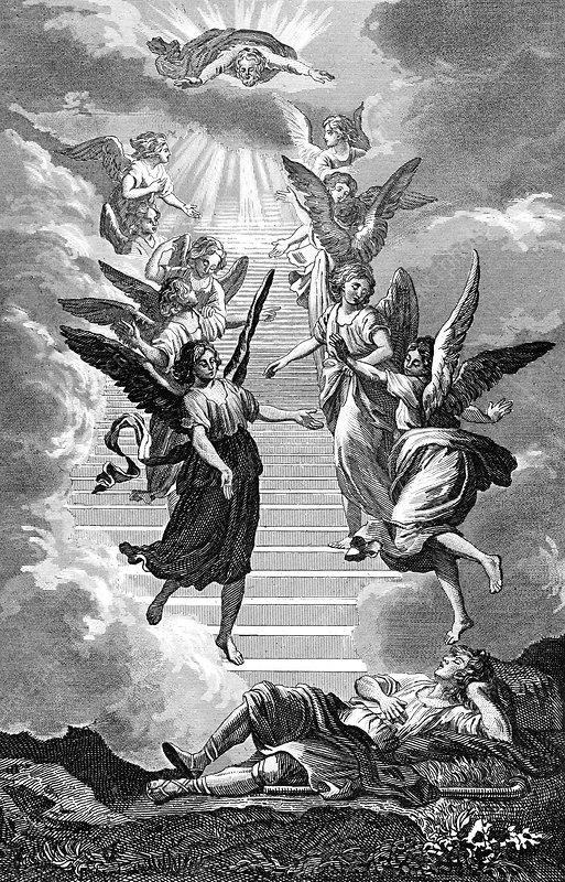 Jacob's ladder, 19th Century illustration