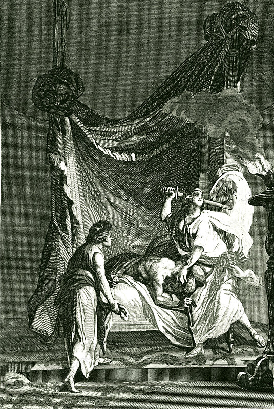 Judith beheading Holofernes, illustration