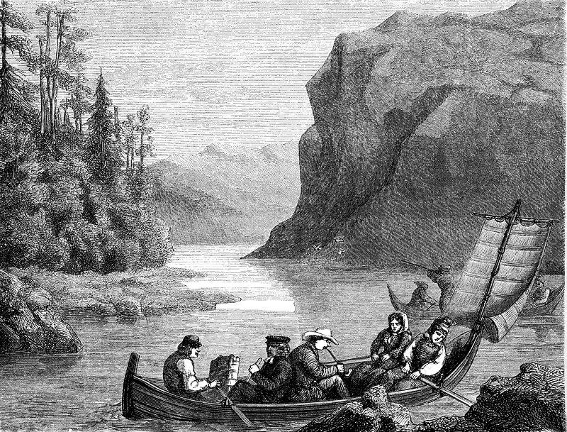 Skalka Lake, Sweden, 19th C illustration