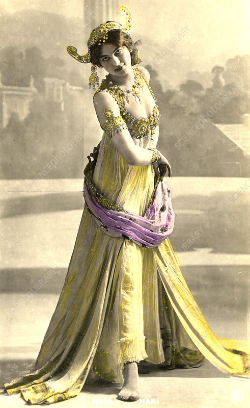 Mata Hari, Dutch exotic dancer