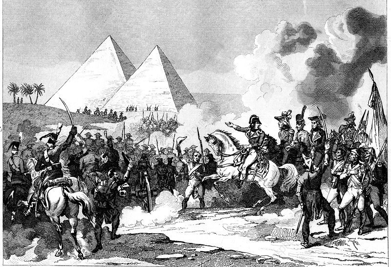 Napoleon in Egypt, 19th C illustration