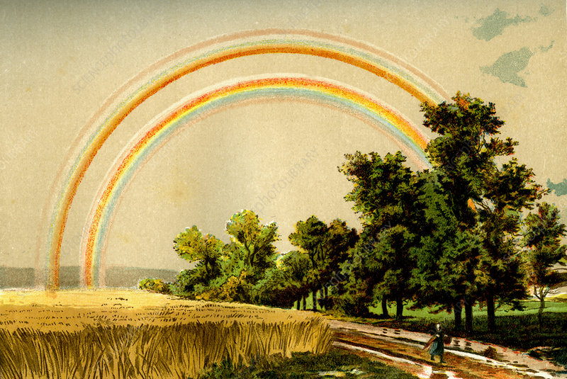 Rainbow, 19th Century illustration