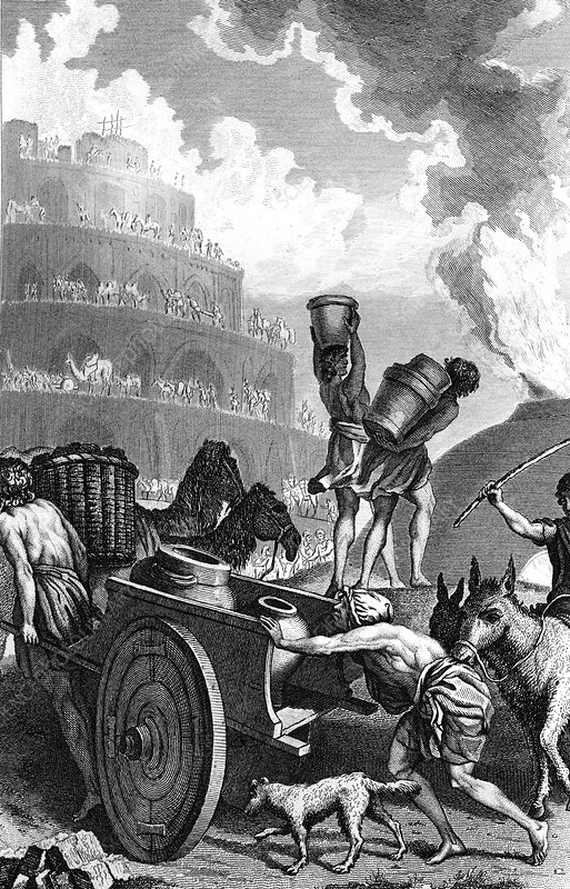 Tower of Babel, 19th Century illustration