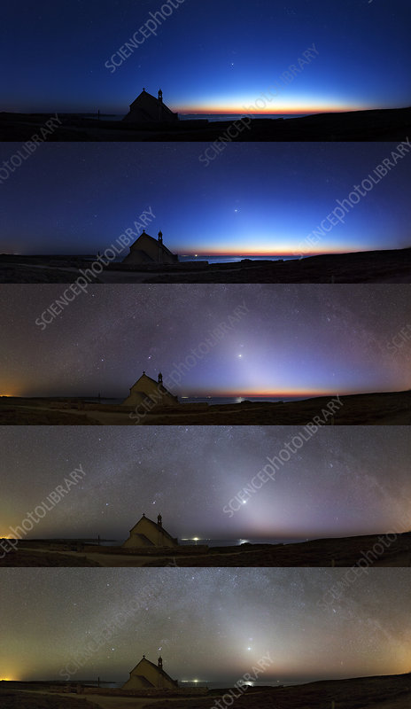 Zodiacal light, montage sequence