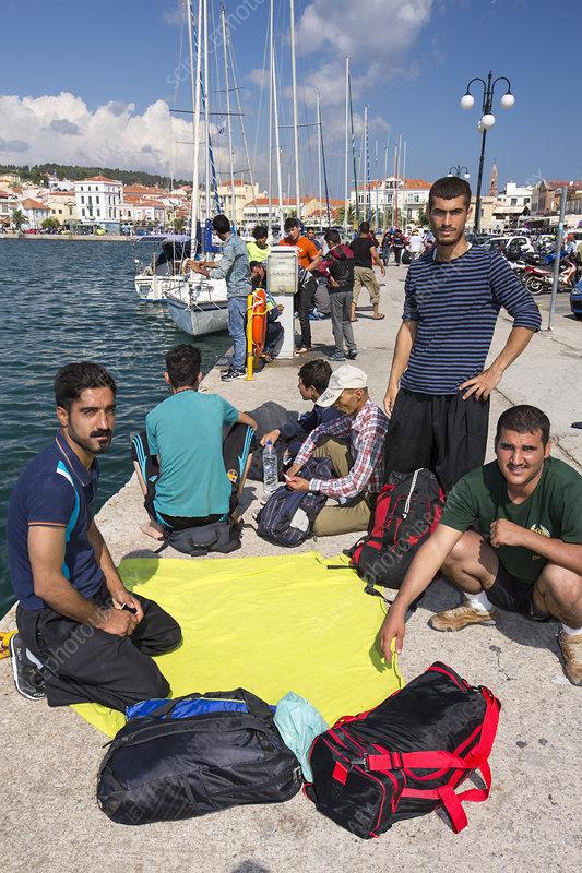 Syrian refugees, Greece