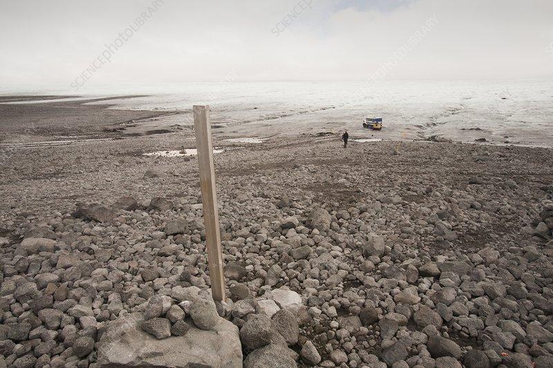 Glacial retreat, Iceland