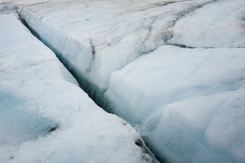 Meltwater on Langjokull ice cap, Iceland