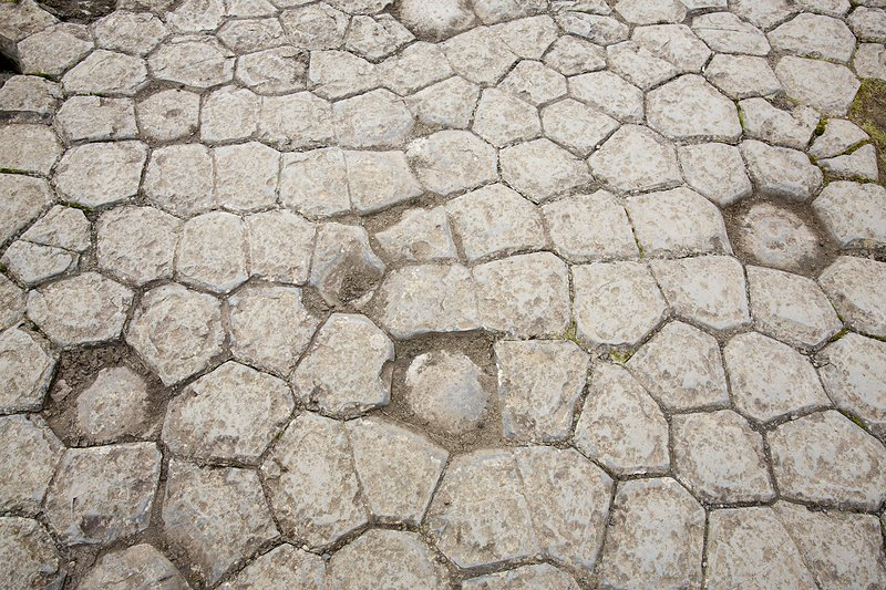 Basalt pavement, Iceland