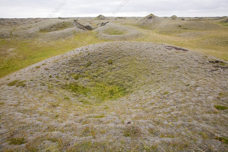Pseudo craters, Iceland