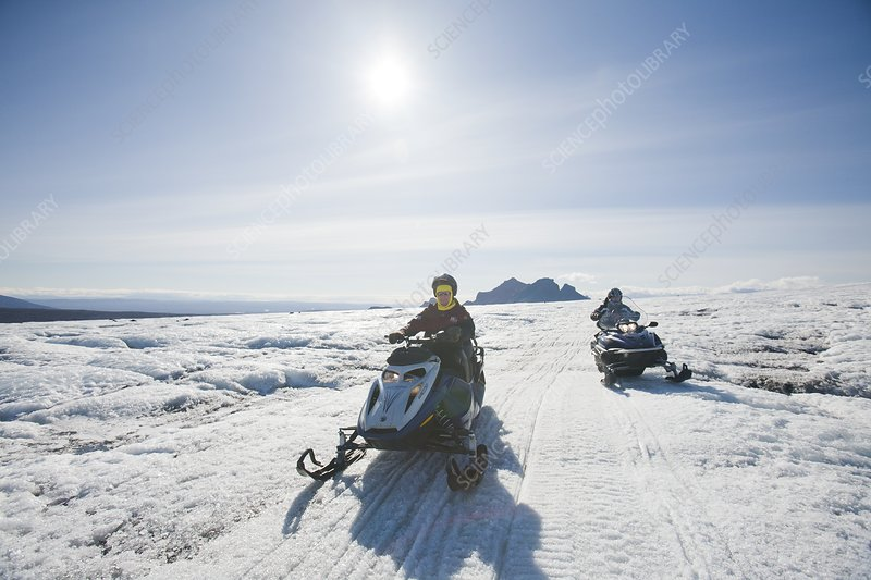 Snowmobilers, Iceland